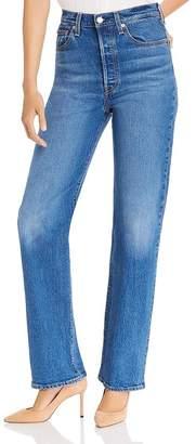 Levi's Rib Cage High Rise Straight-Leg Jeans in Charleston Vintage