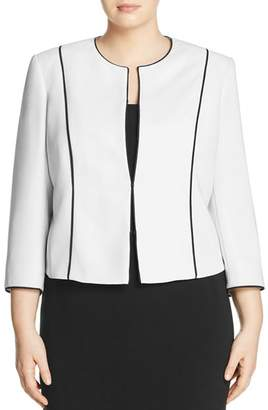 Marina Rinaldi Carica Contrast-Piping Jacket