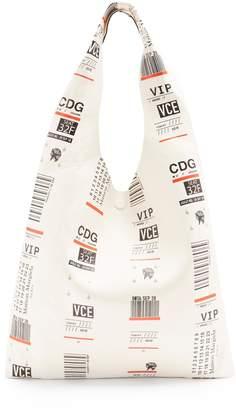 Maison Margiela Leather travel ticket-print bag