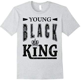 Mens Young Black King Shirt - Inspiring Black Power XL