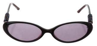 Judith Leiber Narrow Tinted Sunglasses