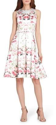Tahari Micado Floral Print Fit & Flare Dress