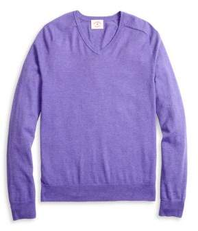 Brooks Brothers Red Fleece V-Neck Cashmere-Blend Sweater