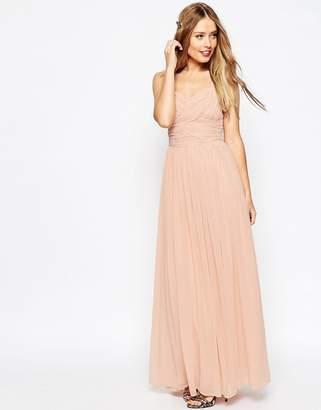 Asos DESIGN Bridesmaid ruched panel maxi dress