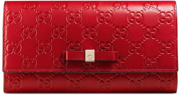 GucciBow Gucci Signature continental wallet
