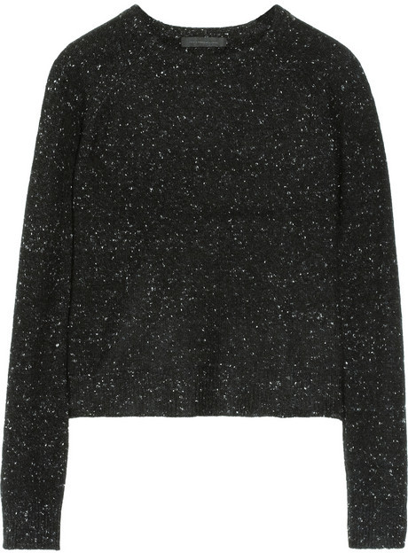 Alexander Wang Flecked cashmere and cotton-blend sweater