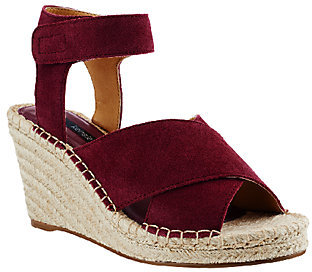 Kensie Espadrille Wedges w/ Adj. Ankle Strap - Narcisa $86 thestylecure.com