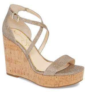 Jessica Simpson Stassi Cross Strap Wedge Sandal