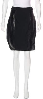 Tracy Reese Leather-Accented Pencil Skirt