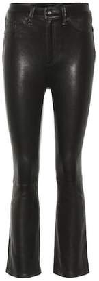 Rag & Bone Hana wide-leg leather jeans