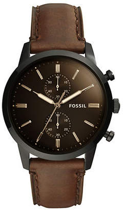Fossil Townsman Chronograph Brown Leather Watch