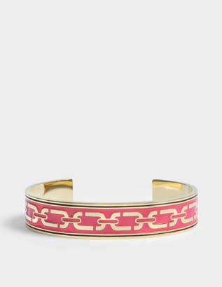 Marc Jacobs Double J Enamel Printed Chain Cuff Bracelet in Pink Enamel