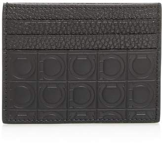 Salvatore Ferragamo Embossed Leather Card Case