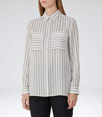 Reiss Lucia Striped Shirt