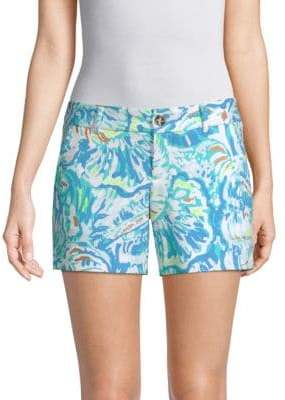 Lilly Pulitzer Callahan Low-Rise Print Shorts
