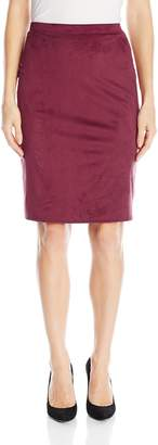 Star Vixen Women's Plus-Size Below-Knee Pencil Skirt with Back Slit