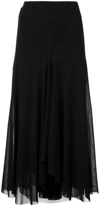 Fuzzi flared midi skirt