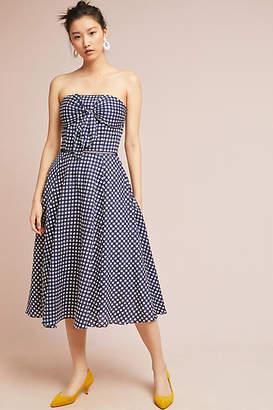 Shoshanna Bowed Gingham Dress