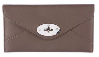 Mulberry Leather Envelope Wallet $175 thestylecure.com