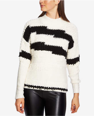 1 STATE 1.state Mock-Neck Textured-Knit Sweater