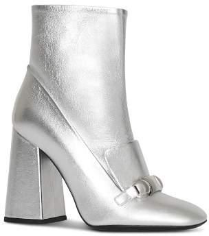 Burberry Women's Brabant Metallic Leather High Block Heel Booties