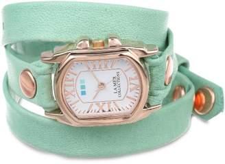 La Mer Women's LMCHATEAU1002 Melon Rose Gold Chateau Wrap Watch