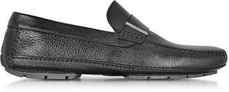 Moreschi Miami Black Deerskin Driver Shoe w/Rubber Sole