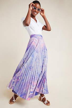1f66642745 Siddhartha Bansal Marble-Dyed Pleated Maxi Skirt