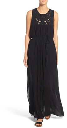 Roxy 'Shining Sea' Macramé Maxi Dress $69.50 thestylecure.com