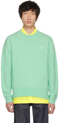 Acne Studios Green Nalon Face Sweater