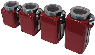 Mainstays 4-Piece Canister Set, Crimson