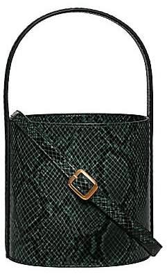 STAUD Women's Bissett Snakeskin-Embossed Leather Bucket Bag