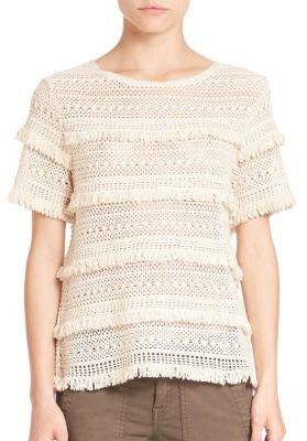 Rafel Cotton Fringe Top $228 thestylecure.com