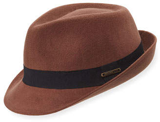 Crown Cap Felt Fedora with Grosgrain Trim