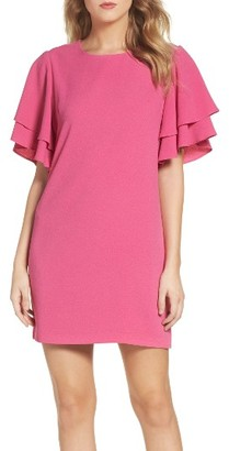Women's Charles Henry Ruffle Sleeve Shift Dress $89 thestylecure.com