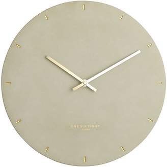 One Six Eight London Marco Concrete Silent Wall Clock, 30cm