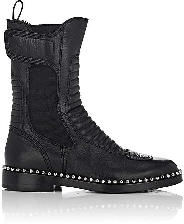 Alexander Wang Women's Mica Leather Moto Boots
