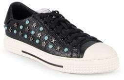 Valentino Studded Leather Platform Sneakers