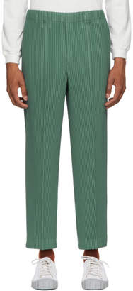 Issey Miyake Homme Plisse Green Tailored Pleats Trousers