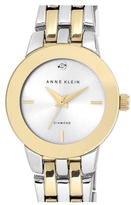 Women's Anne Klein Diamond Accent Bracelet Watch, 30Mm $75 thestylecure.com