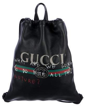9a9584f0358f Gucci Coco Capitán Logo Drawstring Backpack