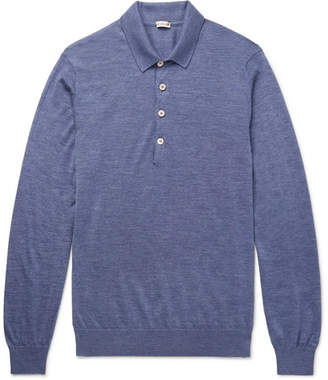 Caruso Mélange Cashmere And Silk-Blend Polo Shirt