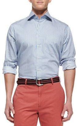 Peter Millar Blue Bengal-Stripe Dress Shirt, Navy $92 thestylecure.com