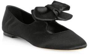 The Row Satin Bow Ballet Flats