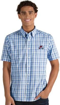 Antigua Men's Colorado Avalanche Button-Down Shirt