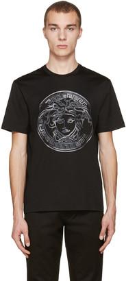 Versace Black Studded Medusa T-Shirt $925 thestylecure.com