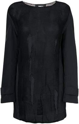 Yang Li sheer coat sleeve sweater