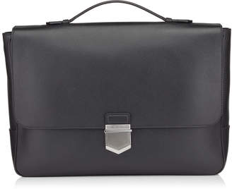 Jimmy Choo HESTON Black Soft Grained Calf Leather Briefcase