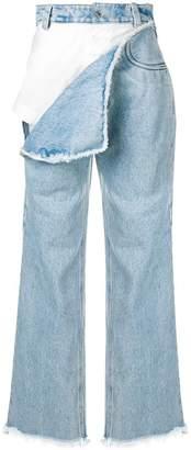 Seen torn flap jeans