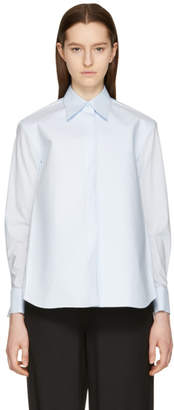 Maison Margiela Blue Structured Shoulder Shirt